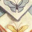 Butterfly Hankies with Edging and Applique