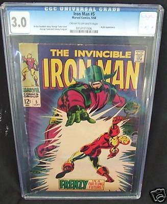 CGC GRADED 3.0 THE INVINCIBLE IRON MAN # 5  9/68
