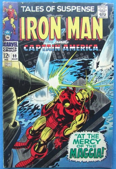 TALES OF SUSPENSE IRON MAN & CAPTAIN AMERICA NO 99 MARCH 1968