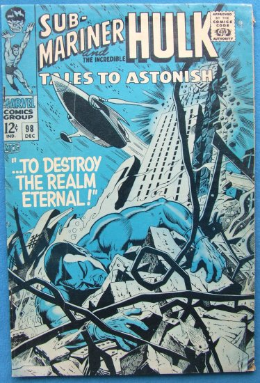 TALES TO ASTONISH SUB MARINER & HULK NO 98 VOL.1 1967 MARVEL COMICS