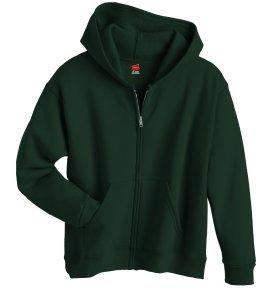 Boy's Hanes Stayclean Zip-front Hood