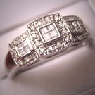 Vintage Diamond Ring Wedding Band White Gold Estate 14K