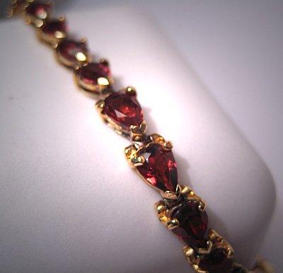 Vintage Garnet Bracelet Eternity Style
