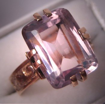 Victorian Amethyst Ring Antique Rose de France Vintage Rose Gold