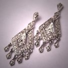 Estate Diamond Earrings Art Deco White Gold Vintage Style Drops