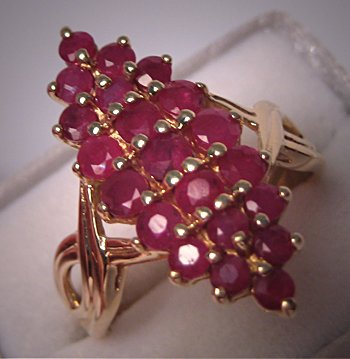 Estate Moghul Style Ruby Ring Vintage Fine Gold Jewelry