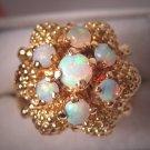 Antique Estate Australian Opal Ring Vintage Retro Deco Style