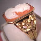 Antique Cameo Ring Vintage Art Nouveau Gold