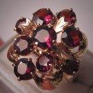 Antique Garnet Ring Vintage Art Deco Gold