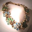 Antique Plique a Jour Bracelet Vintage Art Nouveau