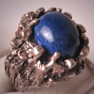 Estate Lapis Ring Vintage Retro Setting