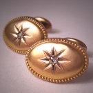 Antique Victorian Gold Diamond Cufflinks