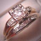 Antique Diamond Wedding Ring Set Vintage