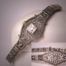 Antique Diamond Bracelet White Gold Art Deco