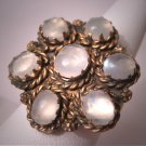 Antique Moonstone Ring Vintage Early Georgian - Victorian Large