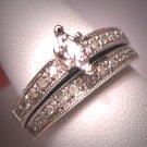 Vintage Diamond Wedding Ring Set Art Deco White Gold