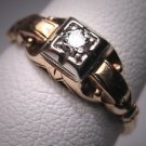 Antique Diamond Wedding Ring Vintage Art Deco Victorian