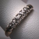 Antique Diamond Wedding Ring Band Vintage Art Deco Gold