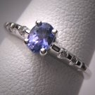 Vintage Tanzanite Diamond Ring White Gold Wedding 14K