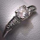 Antique Diamond Wedding Ring Platinum Vintage Art Deco