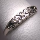 Antique Diamond Wedding Band Ring Vintage Art Deco W.G.