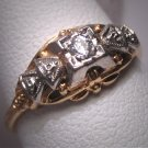 Antique Wedding Ring Vintage Diamond Palladium Art Deco