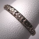 Antique Wedding Band Art Deco Floral Vintage Ring