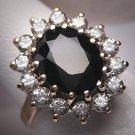 Vintage Sapphire Wedding Ring Princess Di Era Royal 9ct