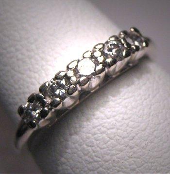 Antique Diamond Wedding Ring Band Vintage Art Deco 14K