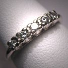 Antique Diamond Wedding Ring Band Vintage Art Deco 14K