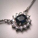 Vintage Sapphire Diamond Necklace White Gold Choker