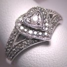Vintage Diamond Wedding Ring Band Retro Art Deco W.Gold