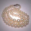 Antique Pearl Necklace Graduated Strand Vintage A. Deco