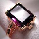 Antique Garnet Ring Vintage Victorian Art Deco Wedding