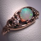 Antique Opal Diamond Ring Wedding Vintage Victorian