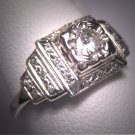 Antique Diamond Wedding Ring Vintage Deco Engagement