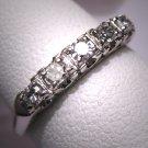 Antique Diamond Wedding Band Ring Vintage Art Deco 30s