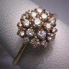 Vintage Diamond Wedding Ring Estate Retro Deco 14K Gold
