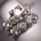 Antique 1ct Diamond Wedding Ring Set Vintage Art Deco