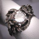 Vintage White Sapphire Wedding Ring Estate Retro Deco