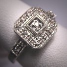 Vintage Diamond Wedding Ring Art Deco Style White Gold
