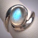 Vintage Moonstone Ring Wedding Engagement Gemstone Retro Art Deco