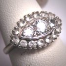 Antique White Sapphire Wedding Ring Vintage Art Deco Engagement 1930