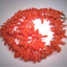 Antique Red Coral Necklace Victorian Art Deco Vintage Italian Branch