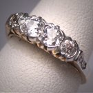 Antique Euro Diamond Platinum Wedding Ring Band Victorian 1 Carat Gold Engagement