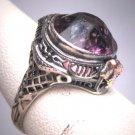 Antique Amethyst Ring Wedding Filigree Vintage Art Deco Victorian 1920