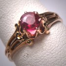 Antique Ruby Wedding Ring Victorian Art Deco Gold Edwardian 1900 Crown