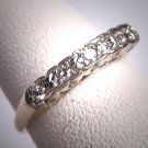 Antique Diamond Wedding Ring Band Vintage Art Deco 30s Engagement
