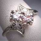 Antique Diamond Wedding Ring Vintage Art Deco .60ct W. Gold Engagement