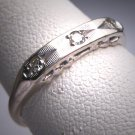 Antique Diamond Wedding Ring Band Vintage White Gold 1950